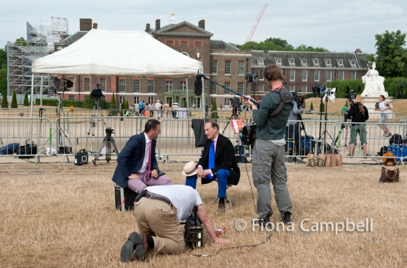 Broadcasters outside Kensington Palace