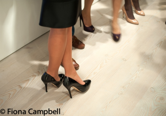 High heels at the opening night